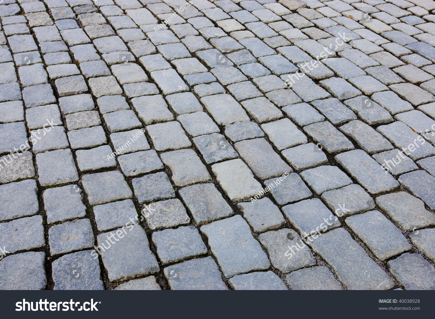 Cobblestone Walkway Stock Photo 40038928 Shutterstock