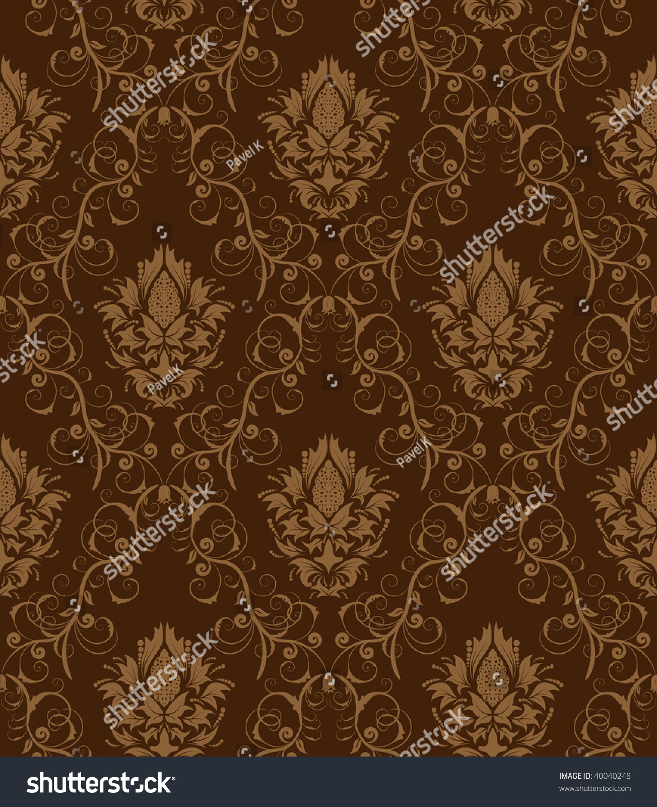 Damask Seamless Vector Background. For Easy Making ...