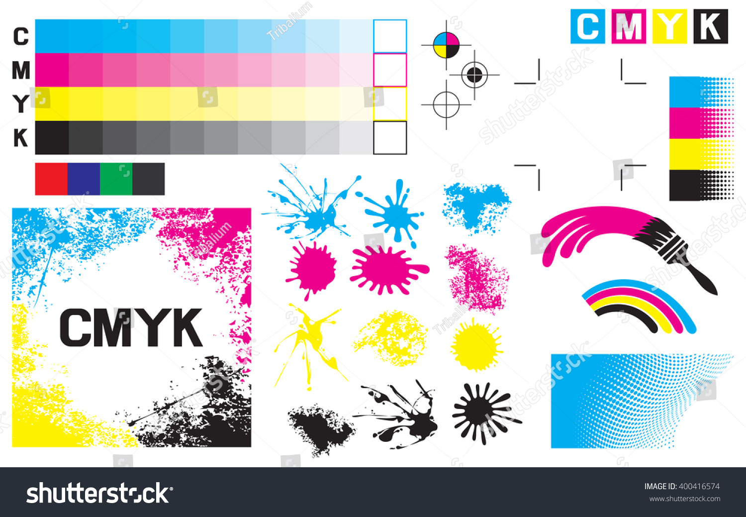 Color printing test - Cmyk Press Marks Printing Color Test