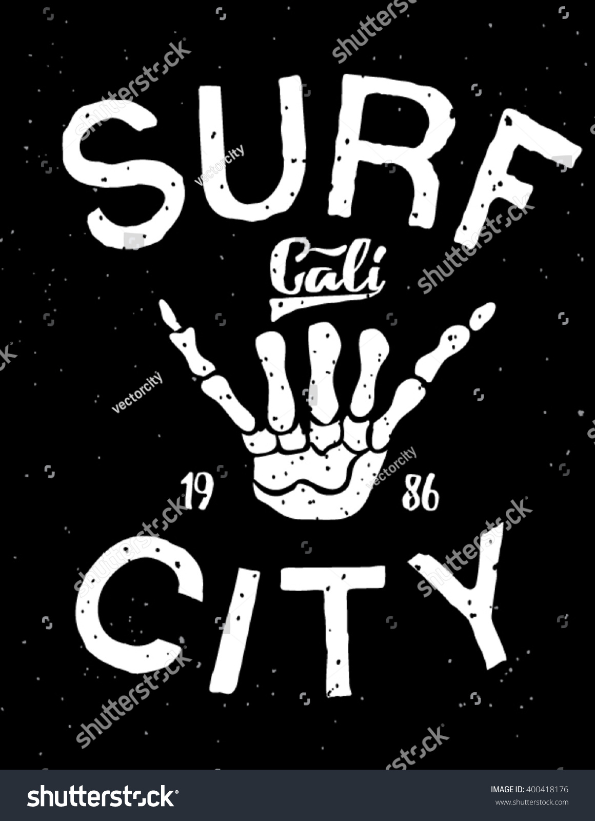Surf Surfing artwork Vintage surf design Original tee surf print
