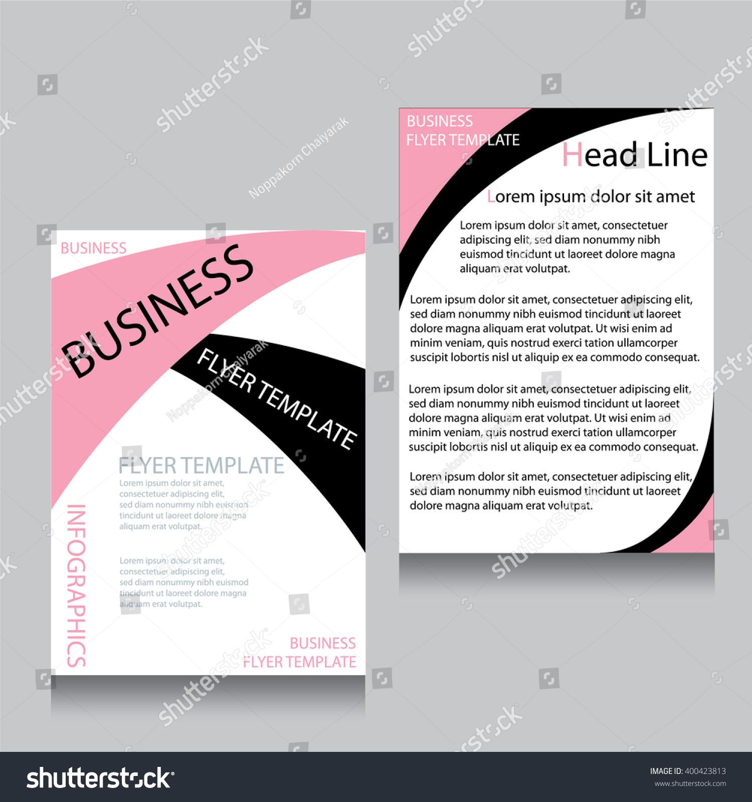 brochure booklet flyer layout template vector illustration ez