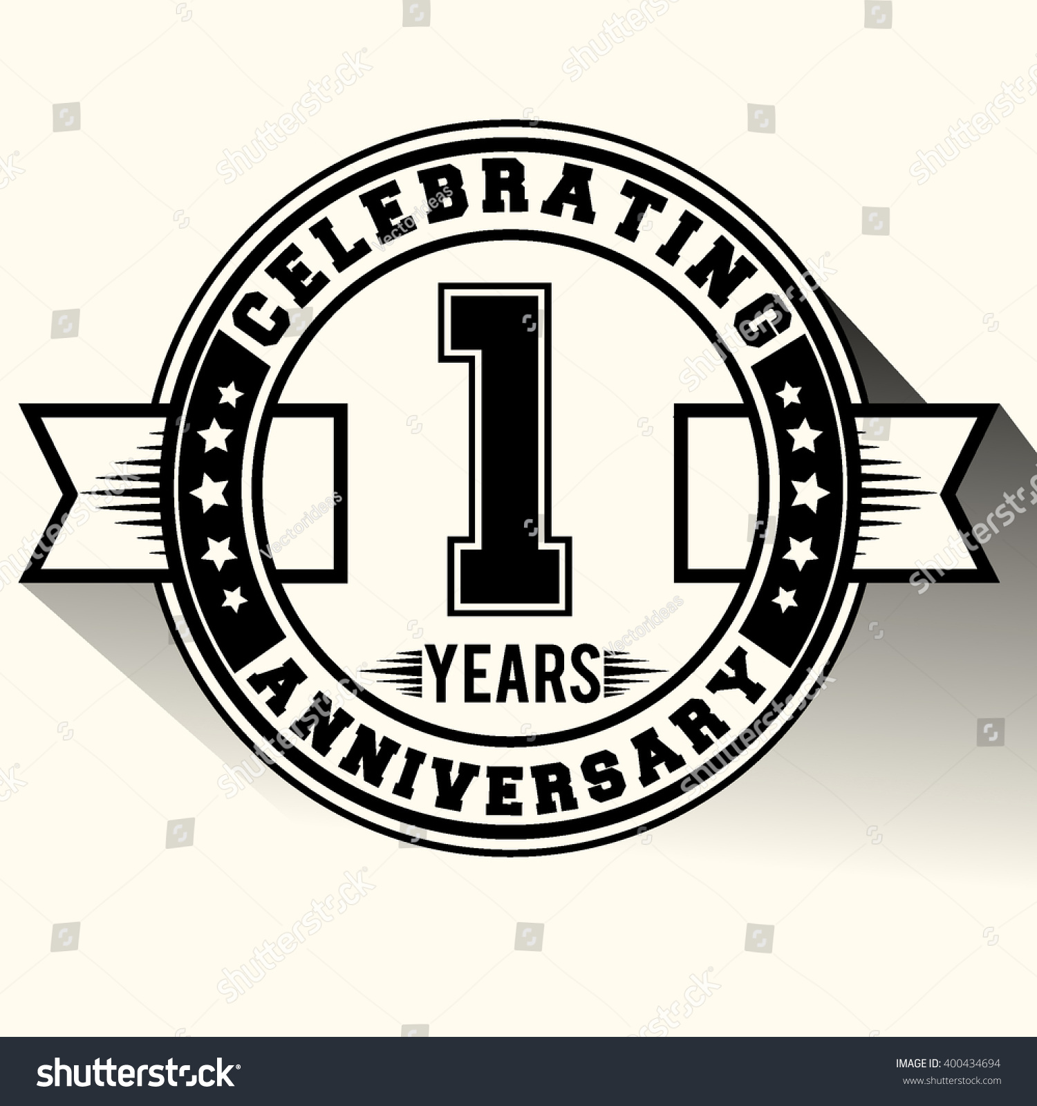 Celebrating years anniversary logo st