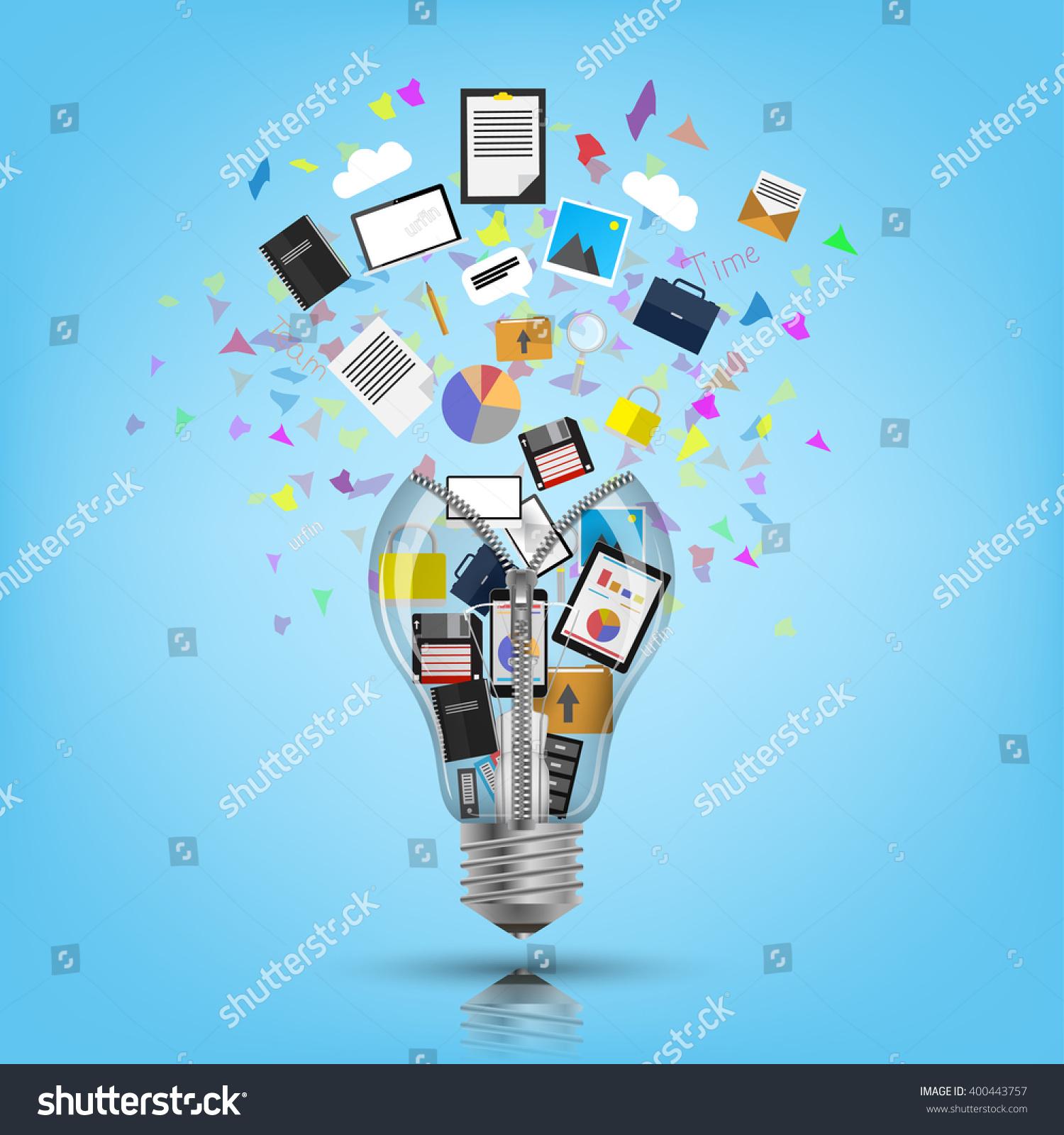Light Bulb Bursting Icons Ideas Stock Vector (Royalty Free ...