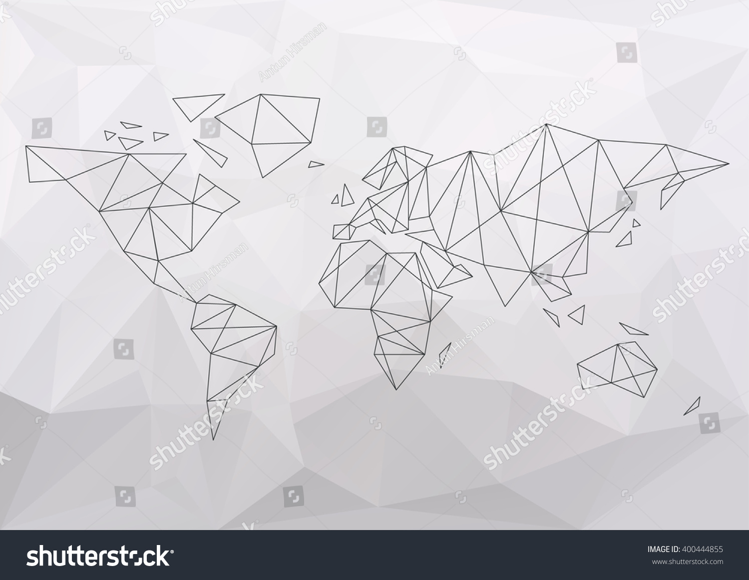 World map simple connection polygon vector vectores en stock world map simple connection polygon vector illustration gumiabroncs Image collections