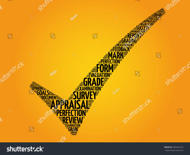 Appraisal Check Mark Business Concept Words Stock Illustration ...