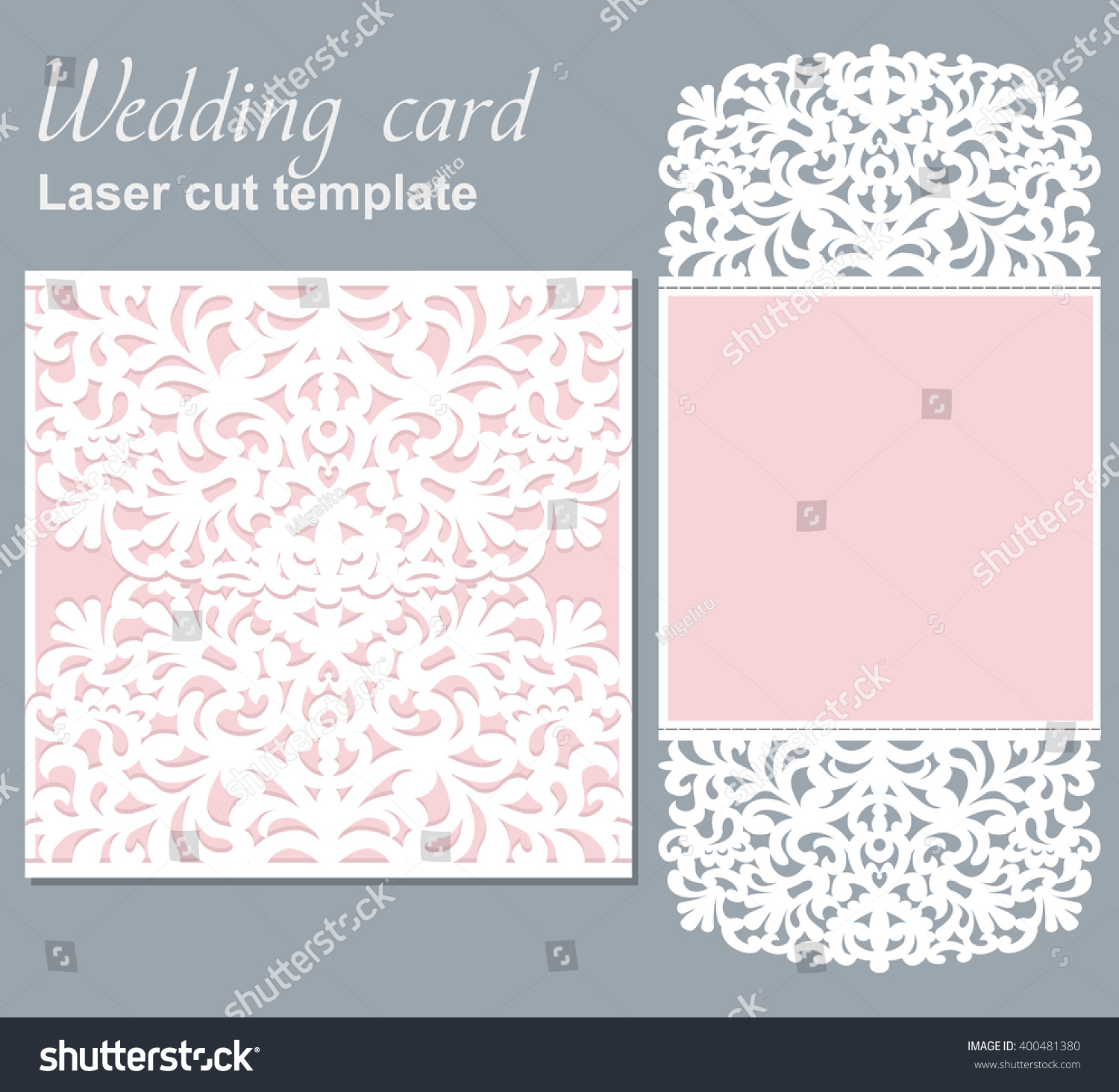 vector die laser cut wedding card stock vector 400481380 shutterstock. Black Bedroom Furniture Sets. Home Design Ideas