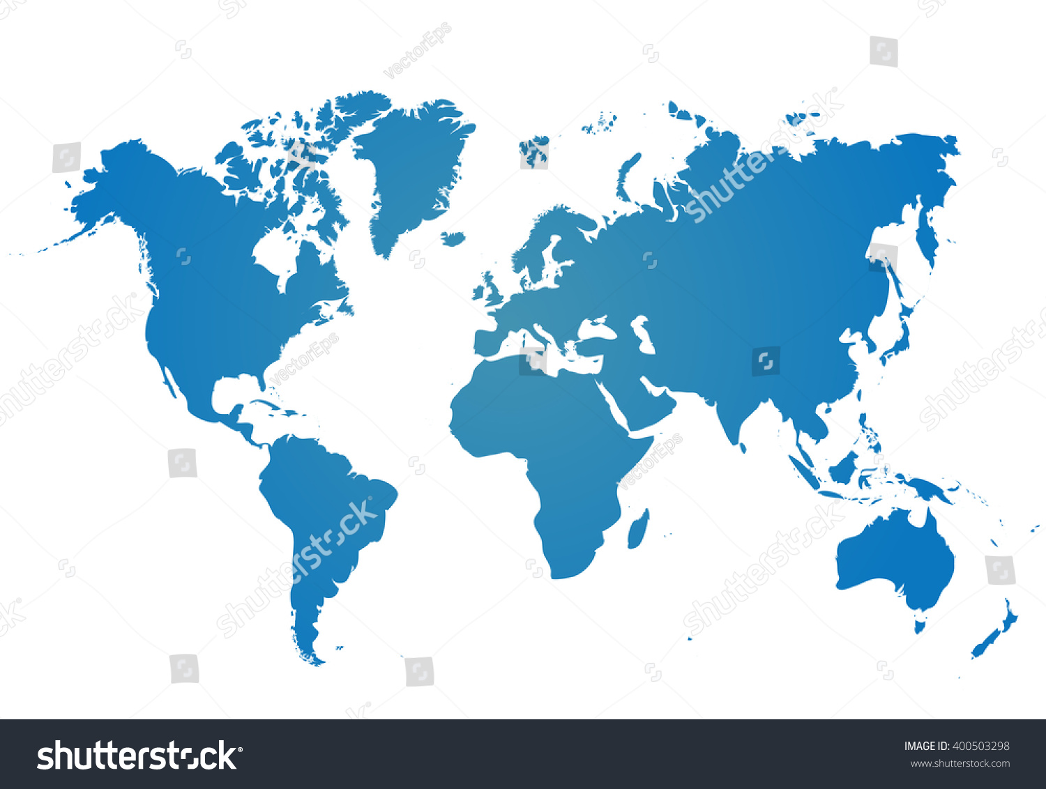Blank blue similar world map isolated stock vector 2018 400503298 blank blue similar world map isolated on white background best popular worldmap vector template for gumiabroncs Image collections