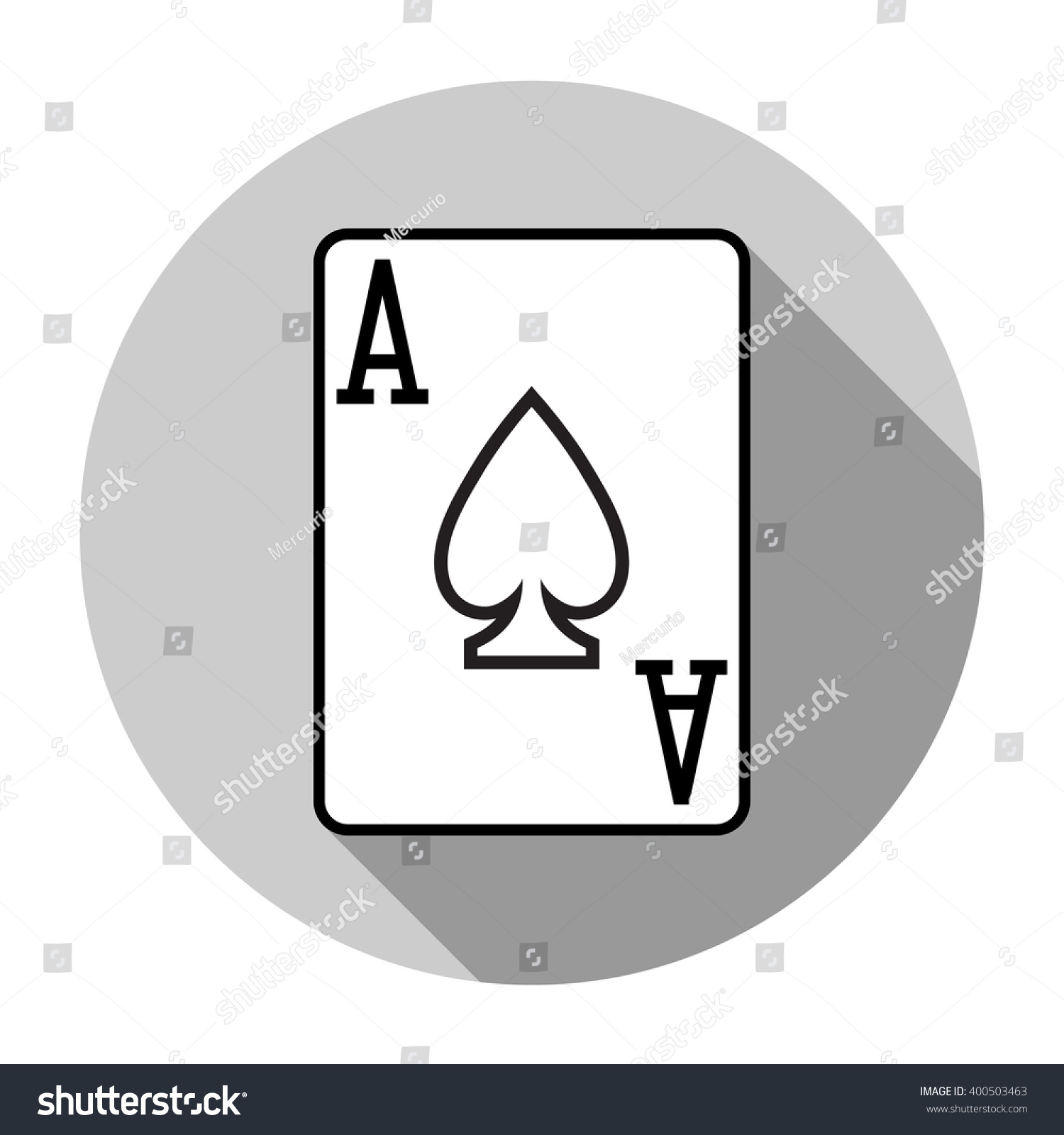 Flat design vector ace spades icon stock vector 400503463 shutterstock biocorpaavc Choice Image