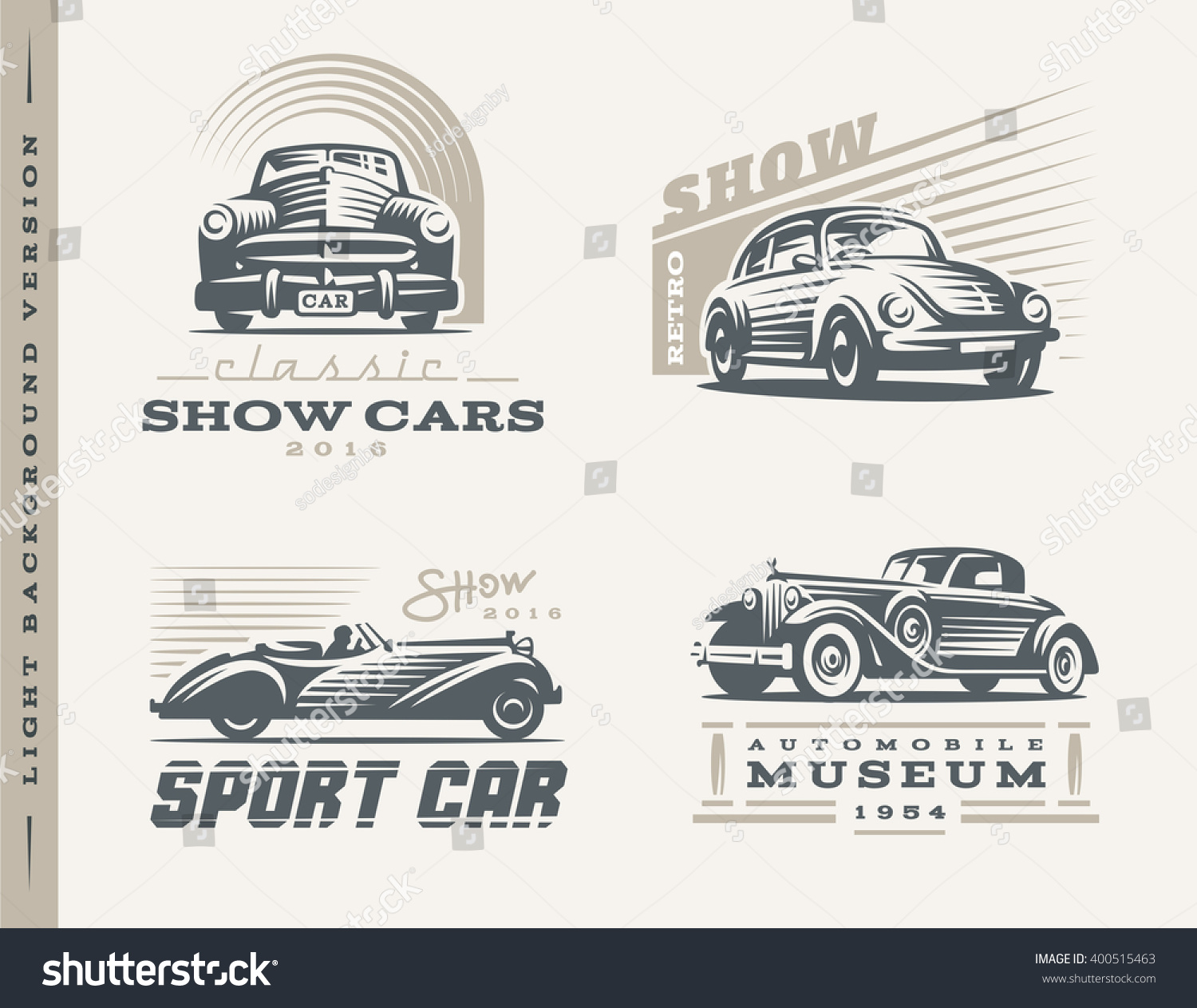 Royalty Free Classic Cars Logo Illustrations On Stock