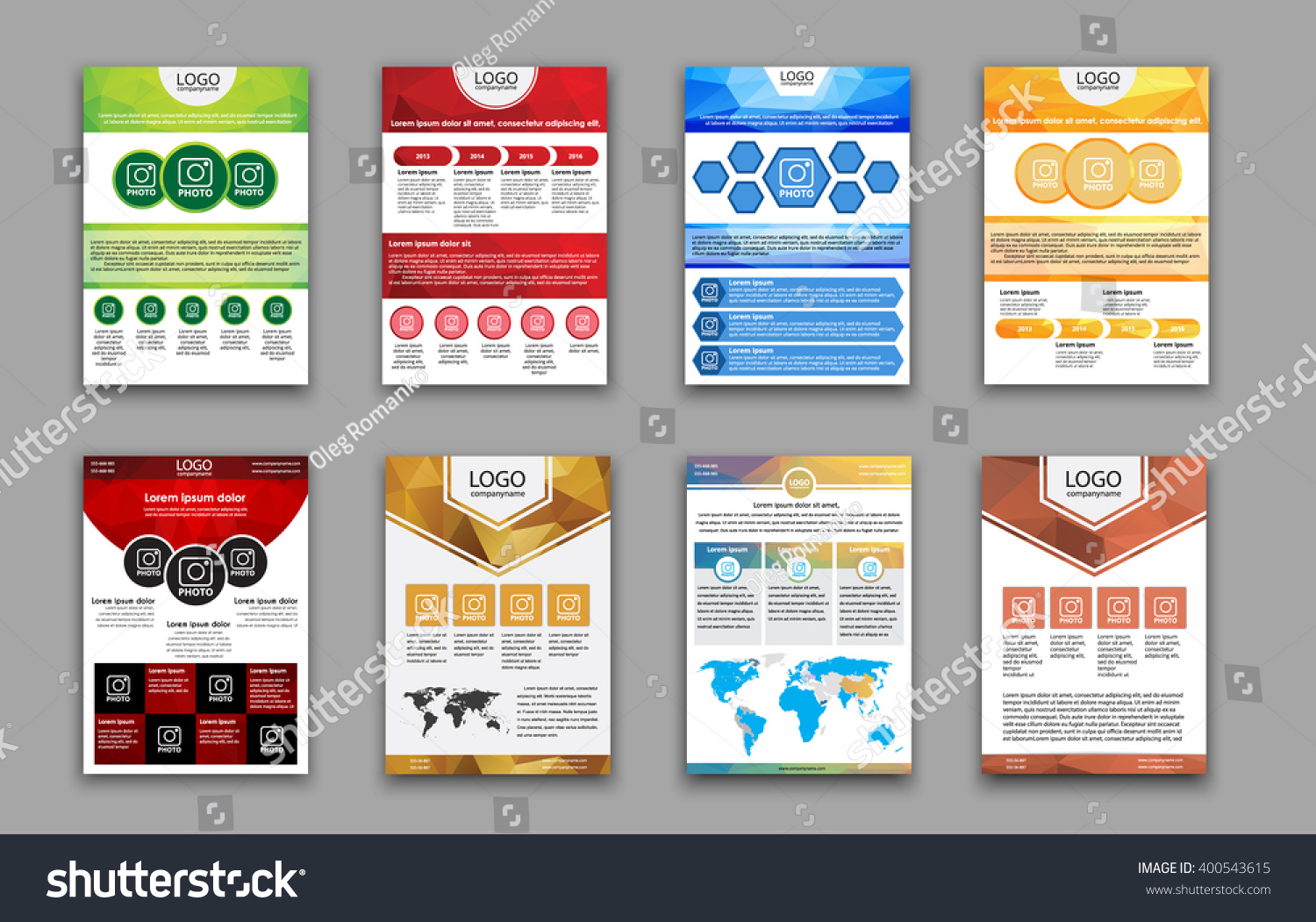 set flyers templates brochures advertising print stock vector set flyers templates brochures for advertising print reports or polygonal colored