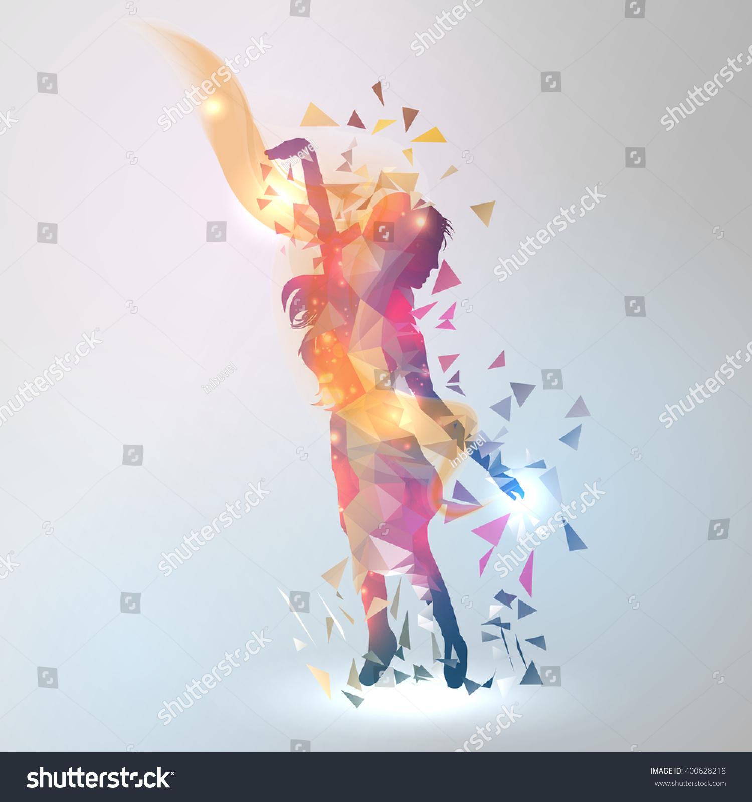 07b289771 Abstract Geometric Dancing Girl Vector Illustration Stock Vector ...