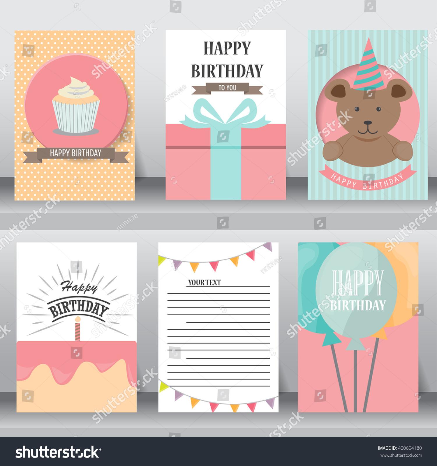 Happy Birthday Baby Shower Greeting Invitation Stock Vector