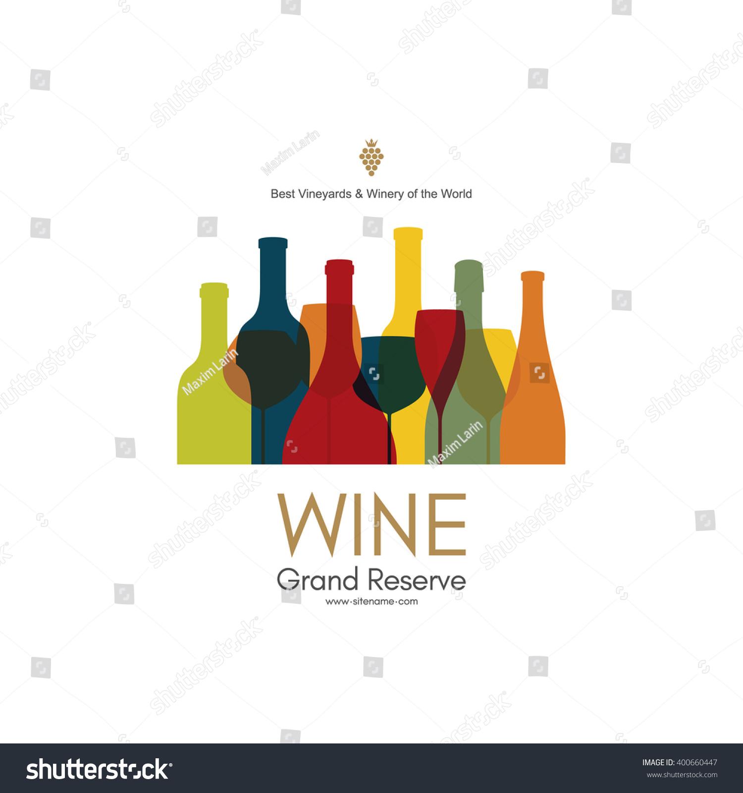 Wine List Design Vector Brochure Template Stock Vector Royalty Free