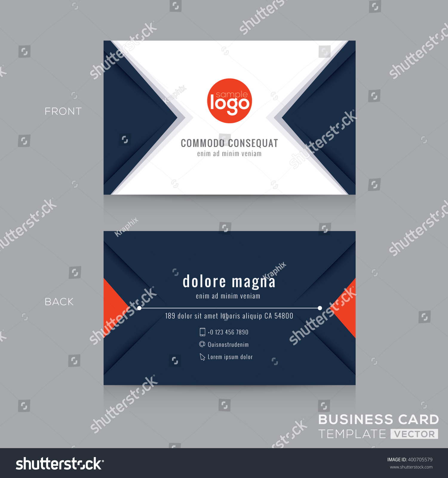Abstract Modern Navy Blue Triangle Business Stock Vector ...