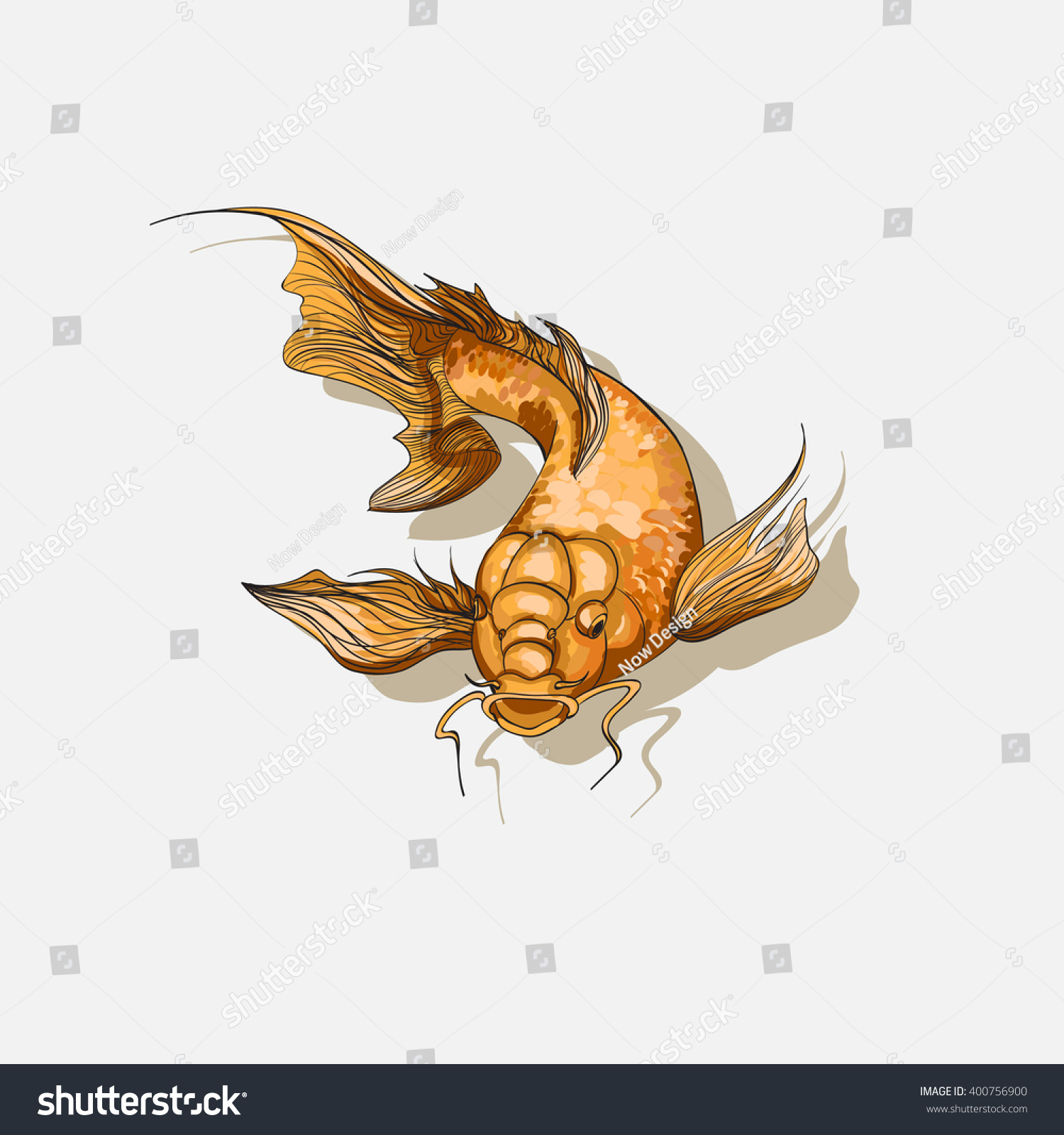 koi fish template for goldfish tattoo stock vector illustration koi fish template for goldfish tattoo