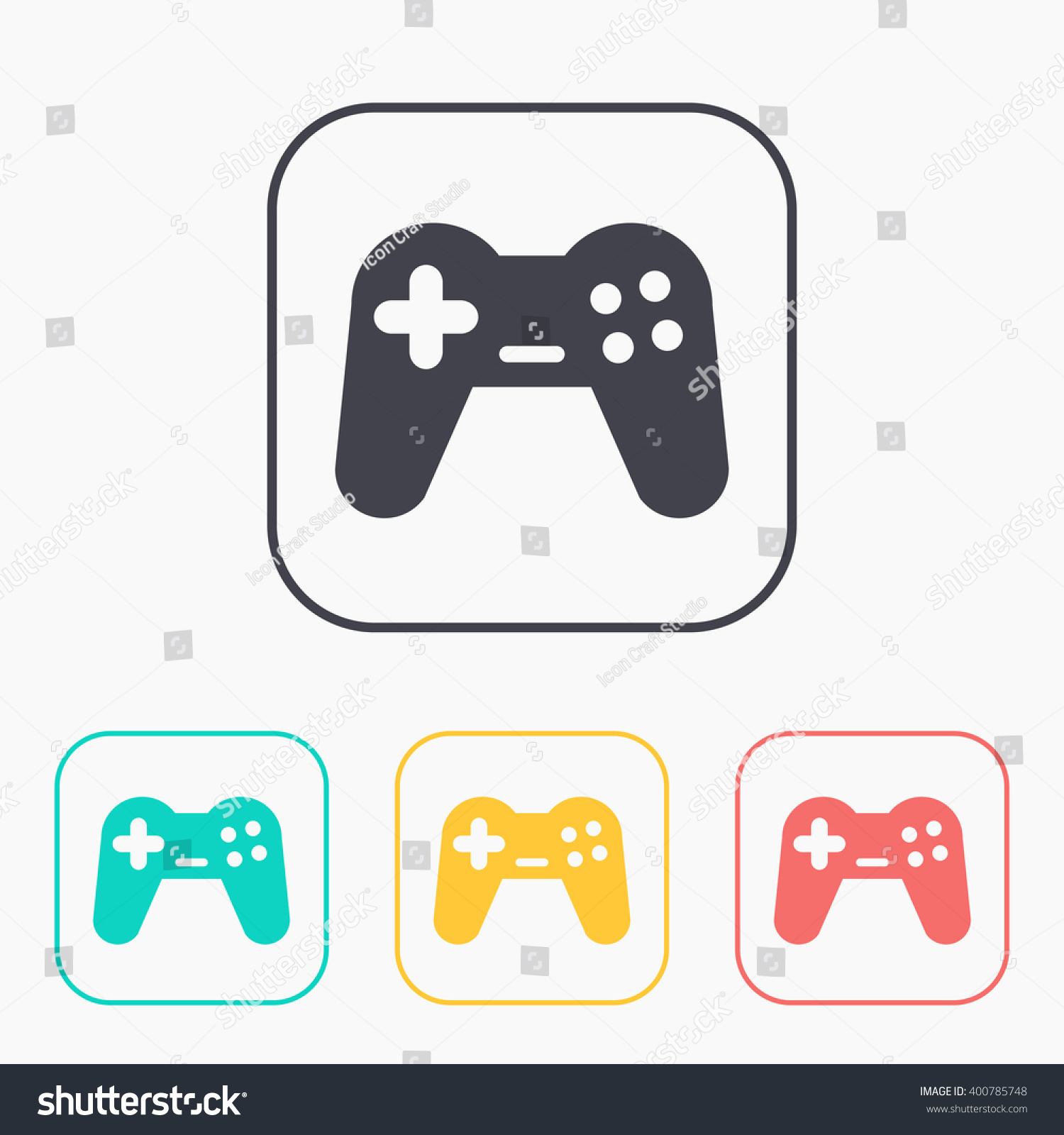 Game color chart - Game Joystick Vector Color Icon Set