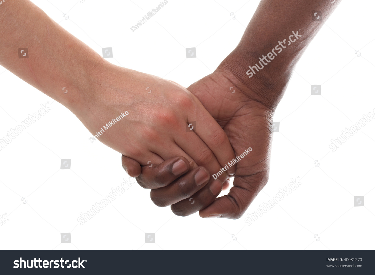 Black And White Couple Holding Hands Stock Photo 40081270 ...
