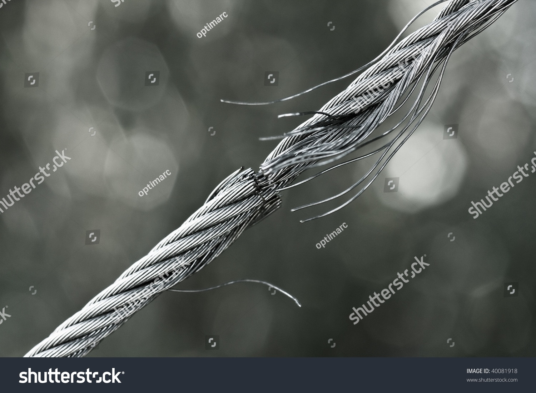 Breaking Steel Cable Stock Photo (Edit Now) 40081918 - Shutterstock