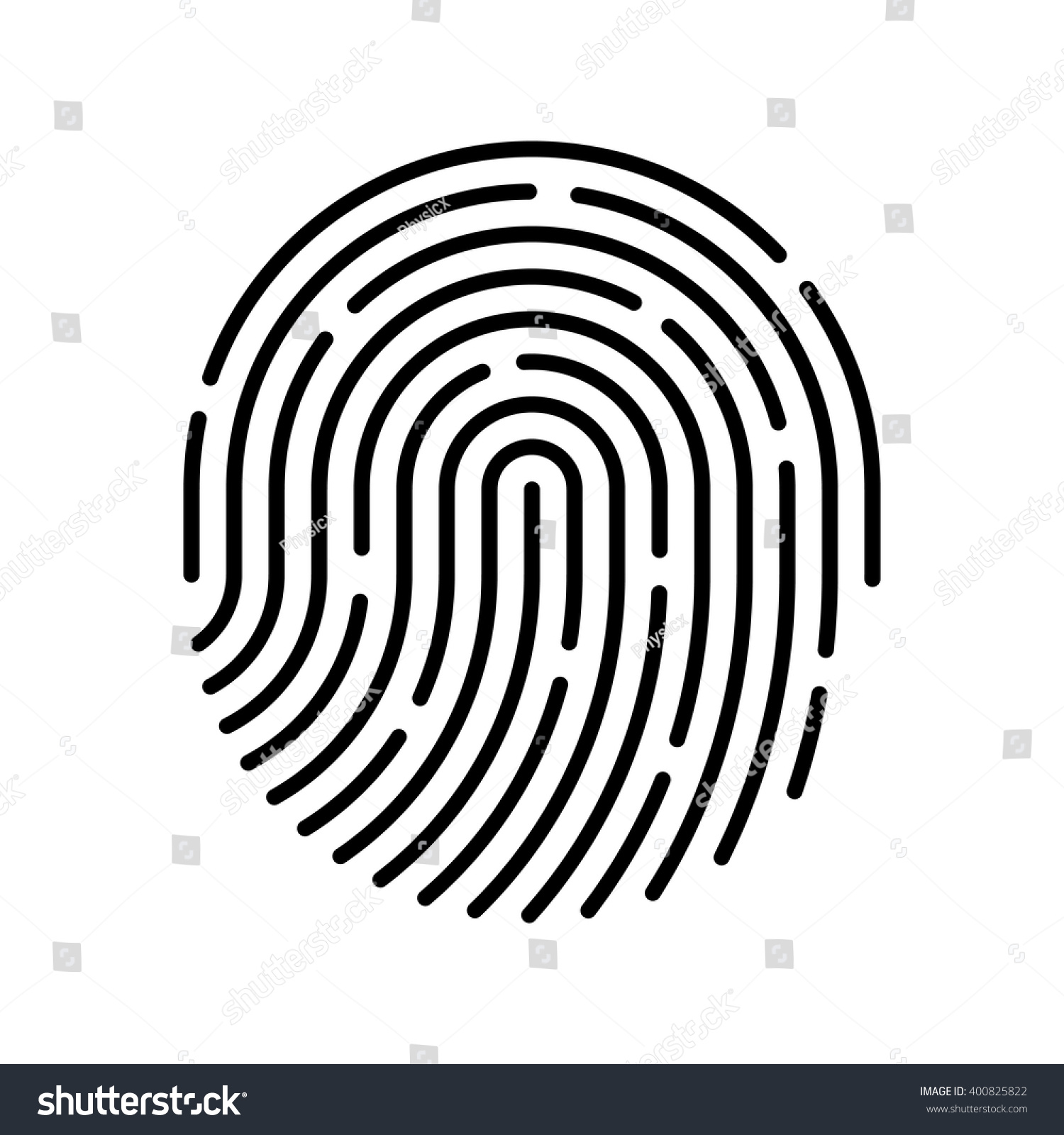 Id App Icon Fingerprint Vector Illustration Stock Vector ...
