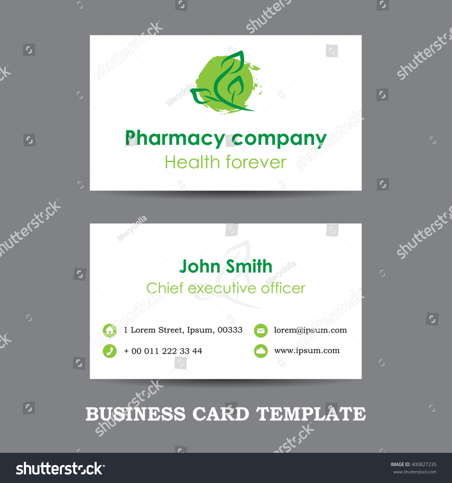 Vector pharmacy company business card template stock vector vector pharmacy company business card template eps flashek Image collections