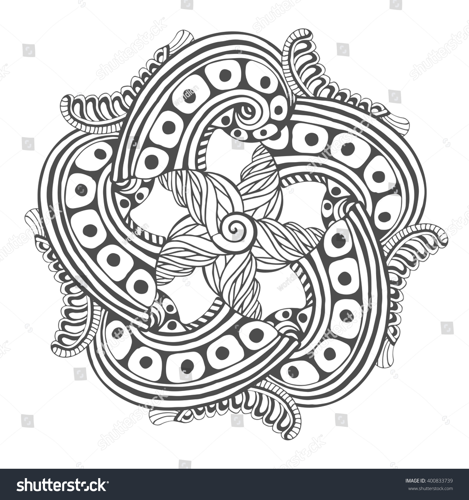 The coloring book tattoo - Mandala For Coloring Book Pages Vector Ornament Pattern For Tattoo Design