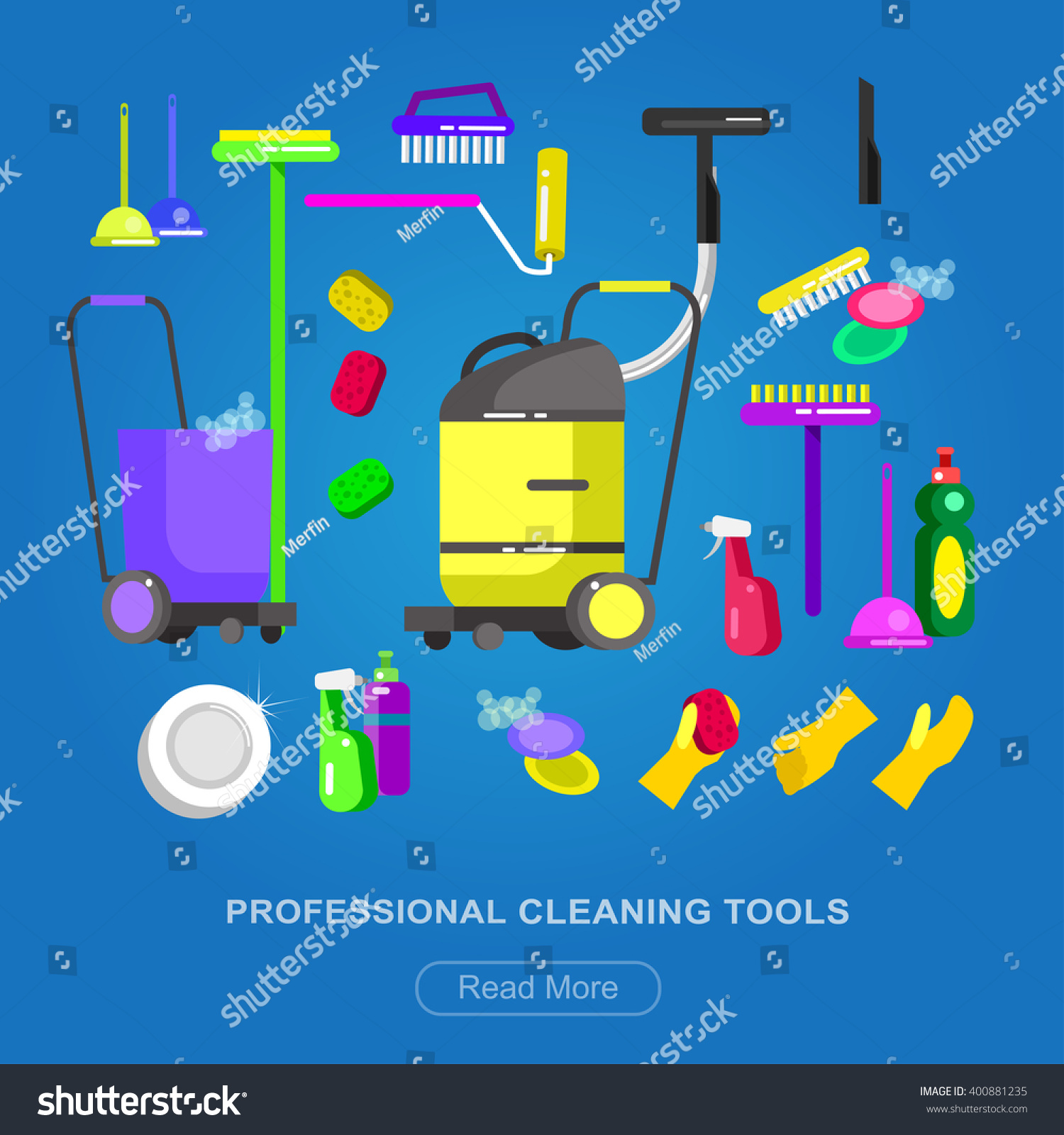 Poster design kit - Poster Design For Cleaning Service And Supplies Vector Detailed Cleaning Kit Icons