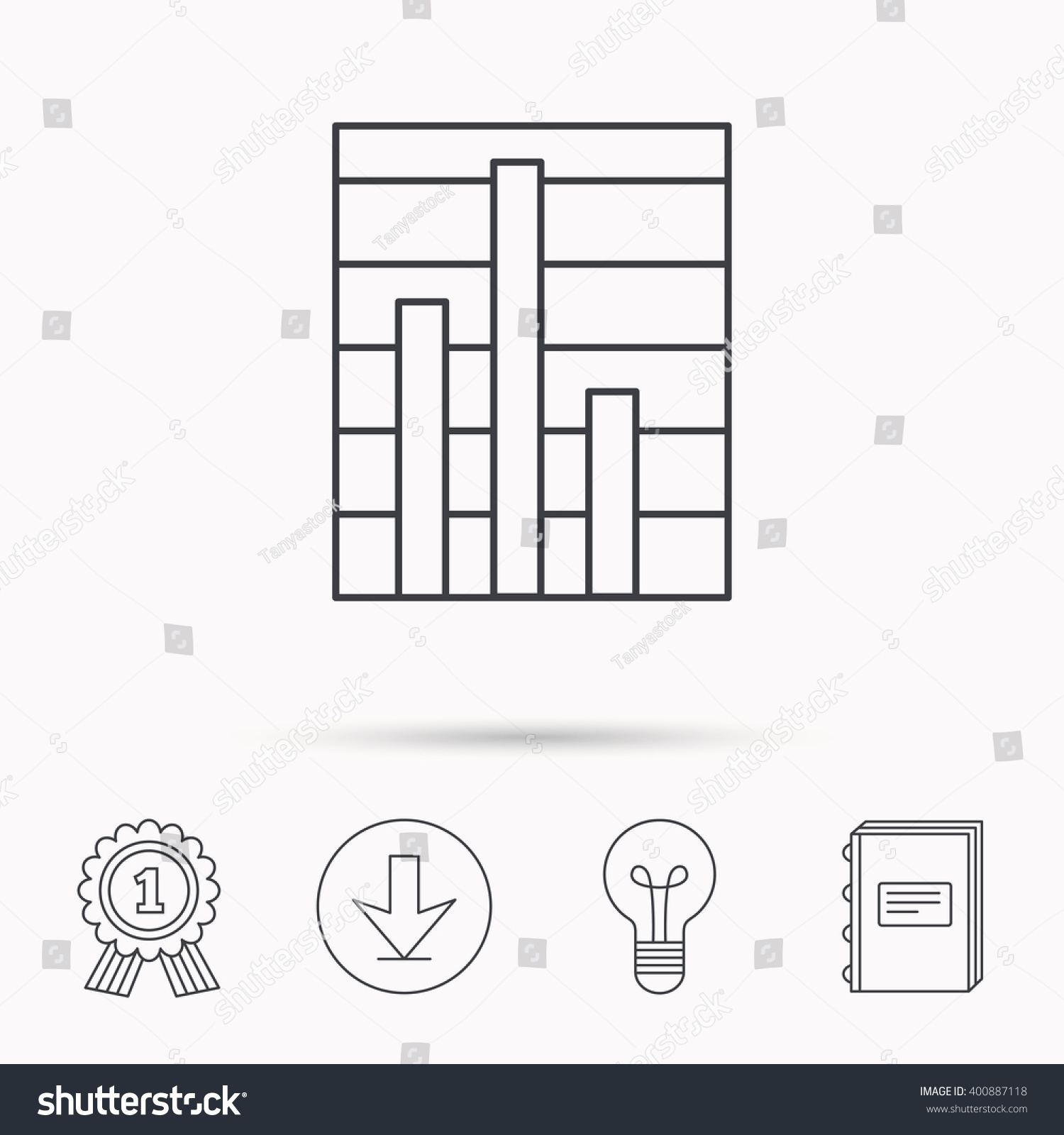 Chart icon graph diagram sign demand stock vector 400887118 chart icon graph diagram sign demand stock vector 400887118 shutterstock ccuart Choice Image
