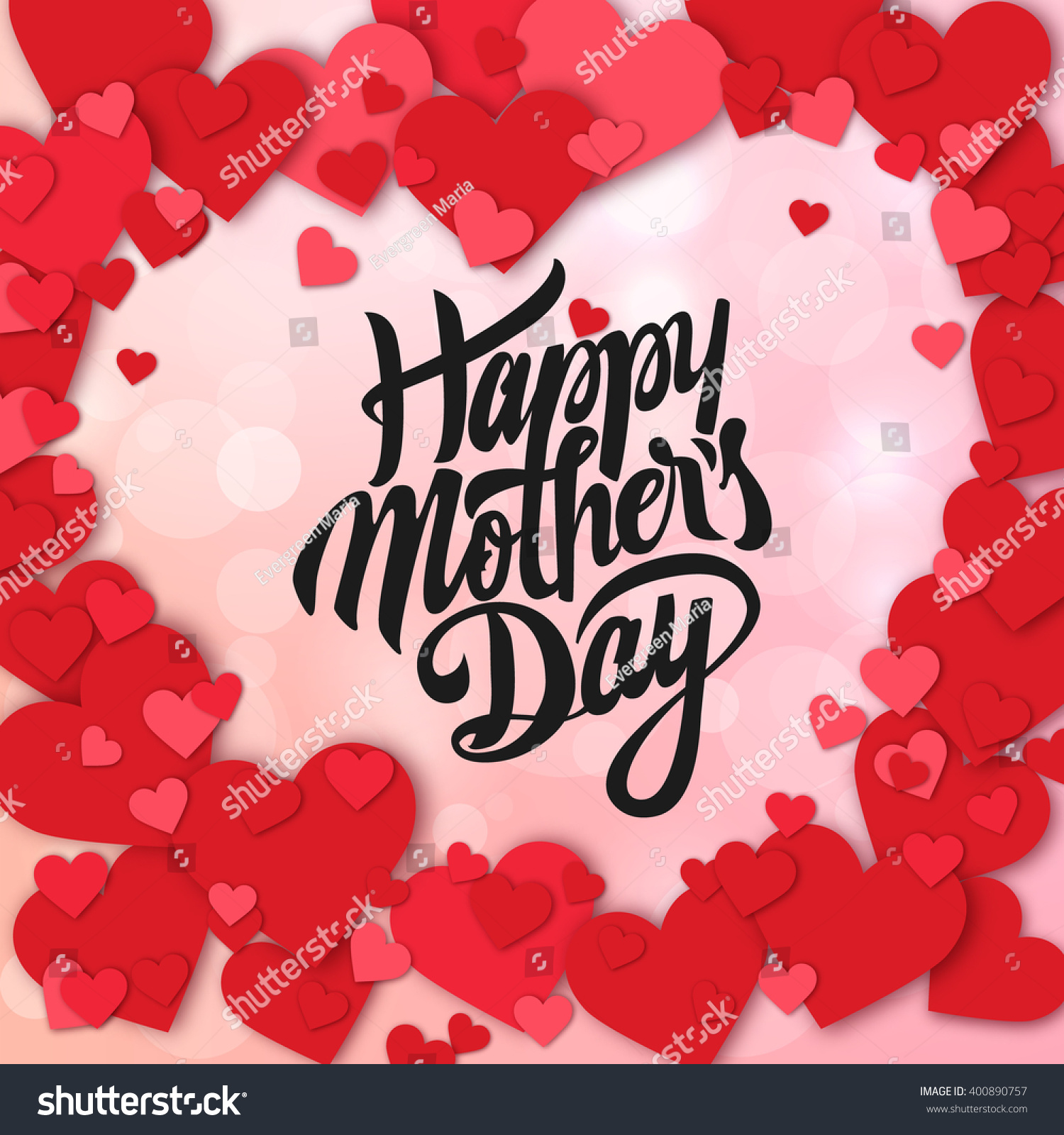 happy mothers day design elements vector stock vector 400890757