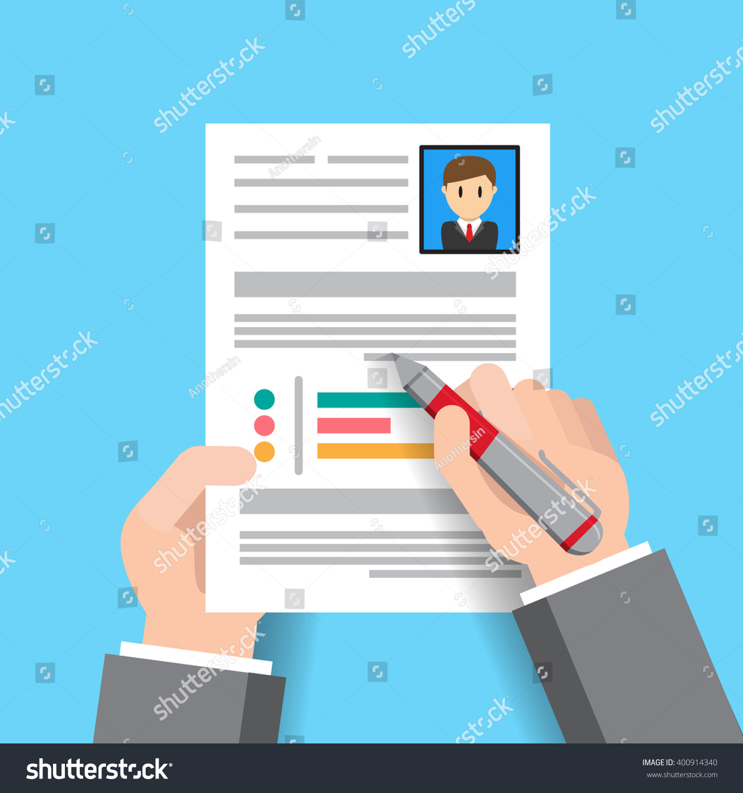 User Designresume Info Graphic Design Job Stock Vector 400914340