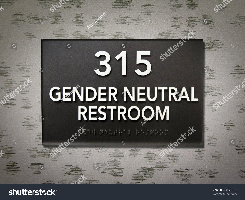 Gender Neutral Restroom Sign Stock Photo 400929307 Shutterstock