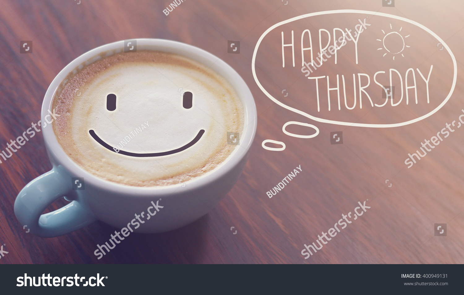 Happy Thursday Coffee Cup Background - 419.2KB