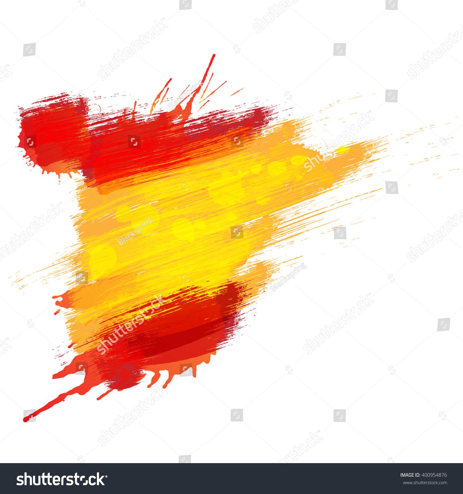 grunge map spain spanish flag stock illustration 400954876