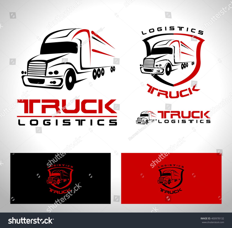 Transportation Truck Logo Vector Design Creative Stock