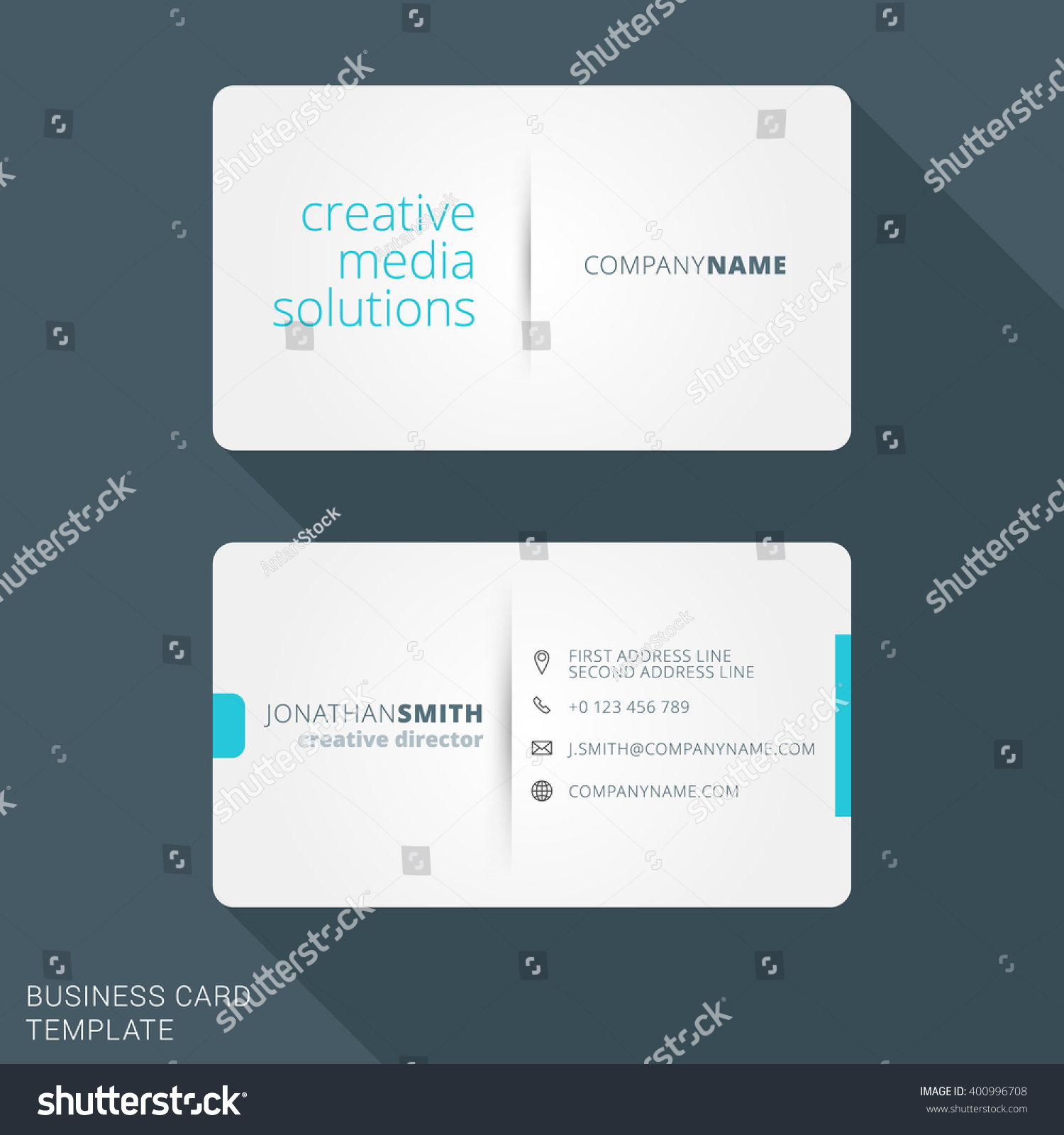 Modern creative business card template flat stock vector 400996708 modern creative business card template flat design vector illustration stationery design magicingreecefo Choice Image
