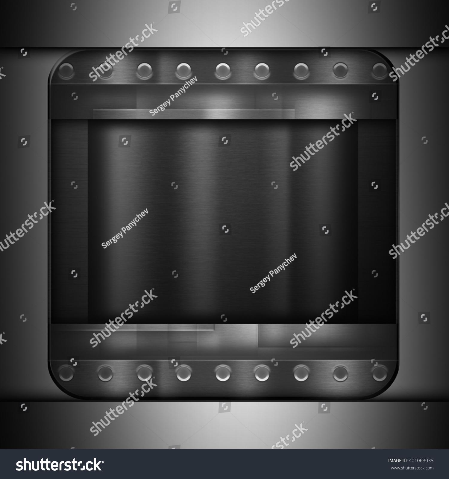 dark metal brushed texture background template stock illustration