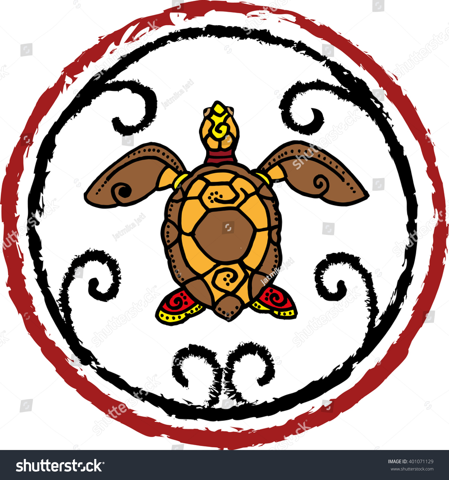 Vector Abstract Form Tortoise Turtle Symbol Stock Vector Royalty Free 401071129