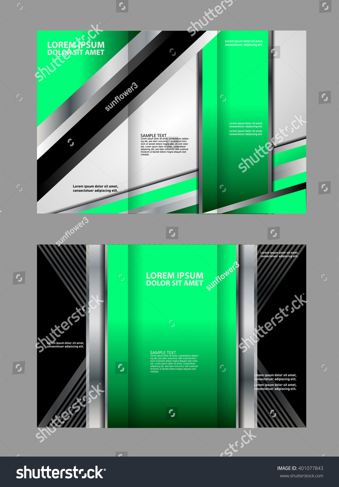 Professional Business Trifold Brochure Template Flyer Stock Vector