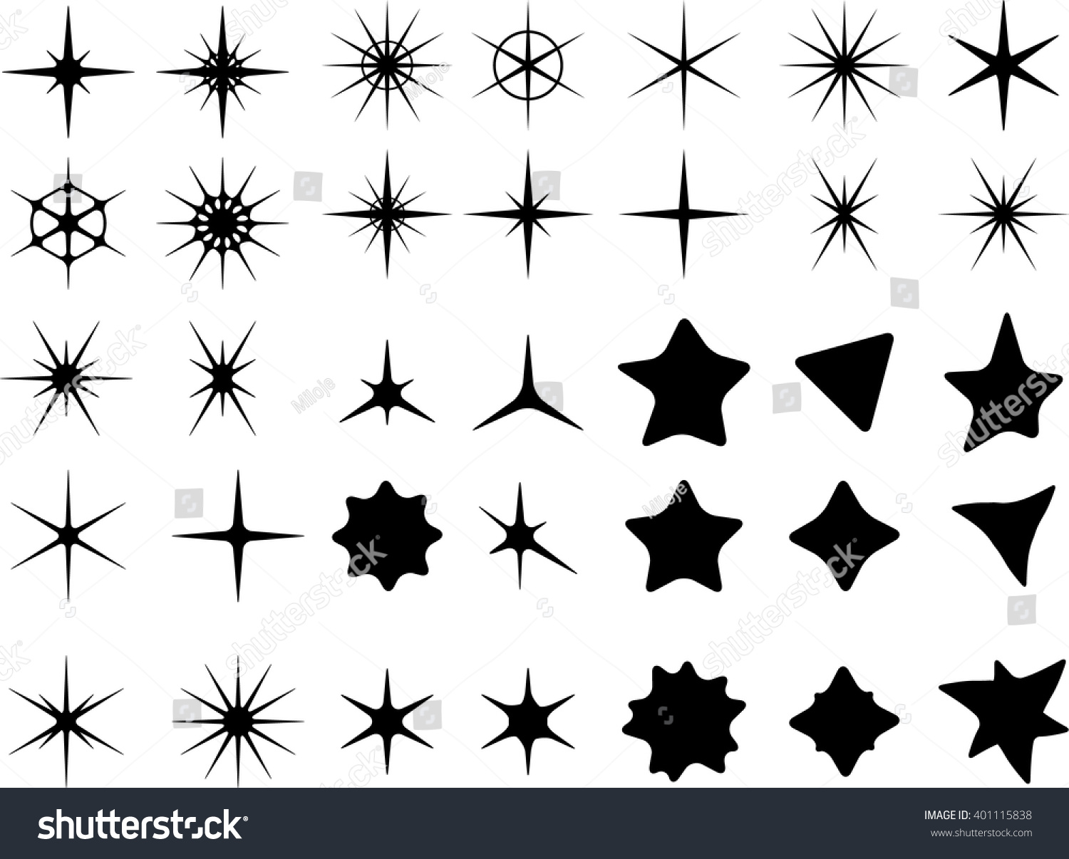 Isolated on white background star symbols stock vector 401115838 isolated on a white background star symbols buycottarizona