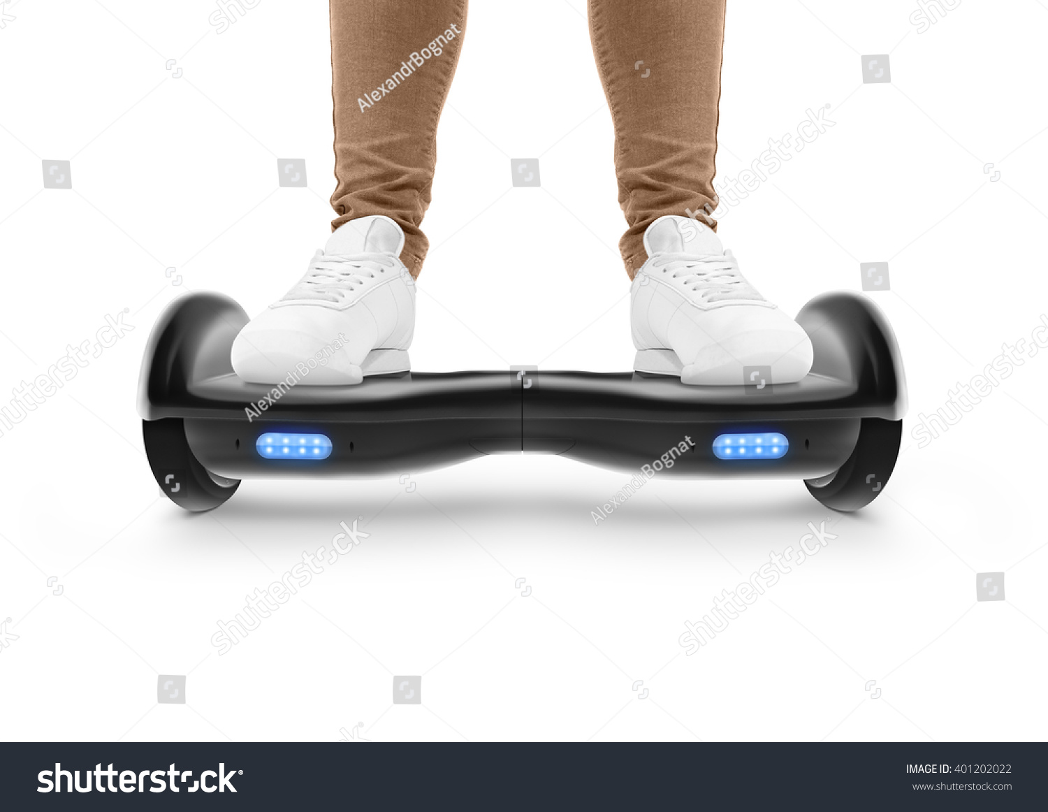 Gyro Scooter Drive Two Wheel Transport Stock Photo