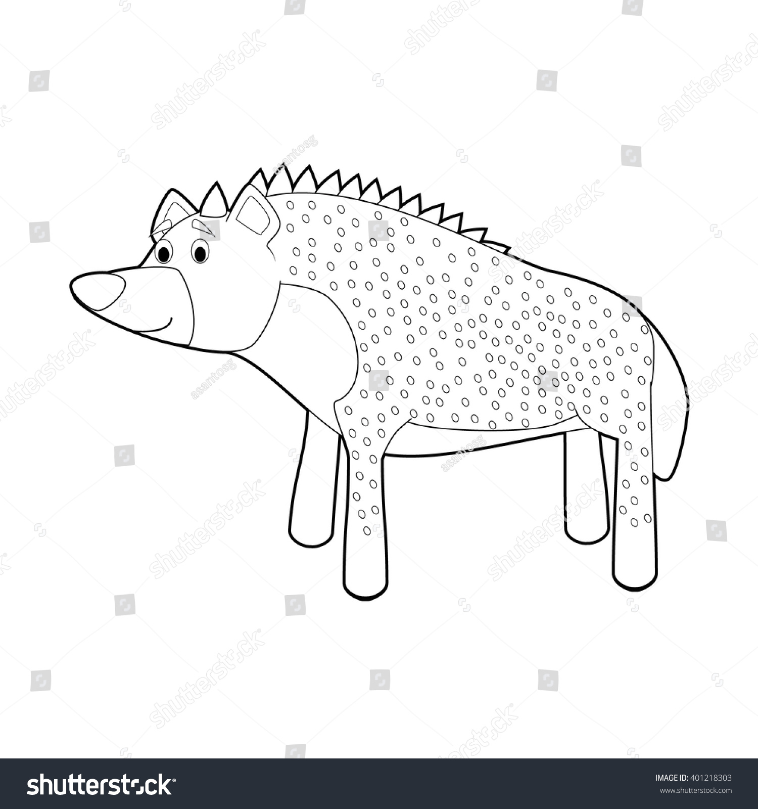 easy coloring drawings animals little kids stock vector 401218303