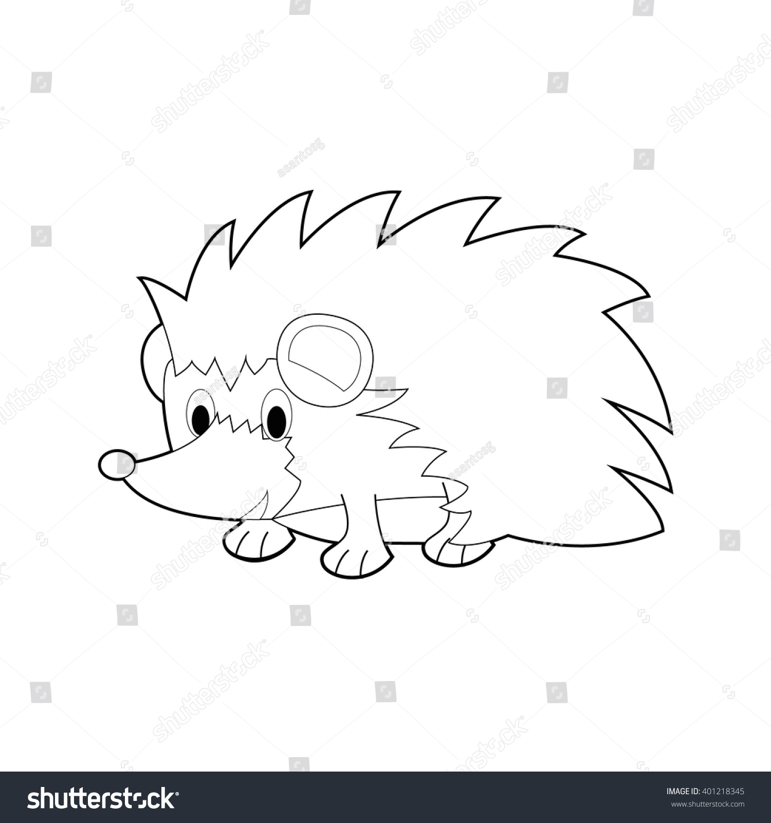easy coloring drawings of animals for little kids hedgehog