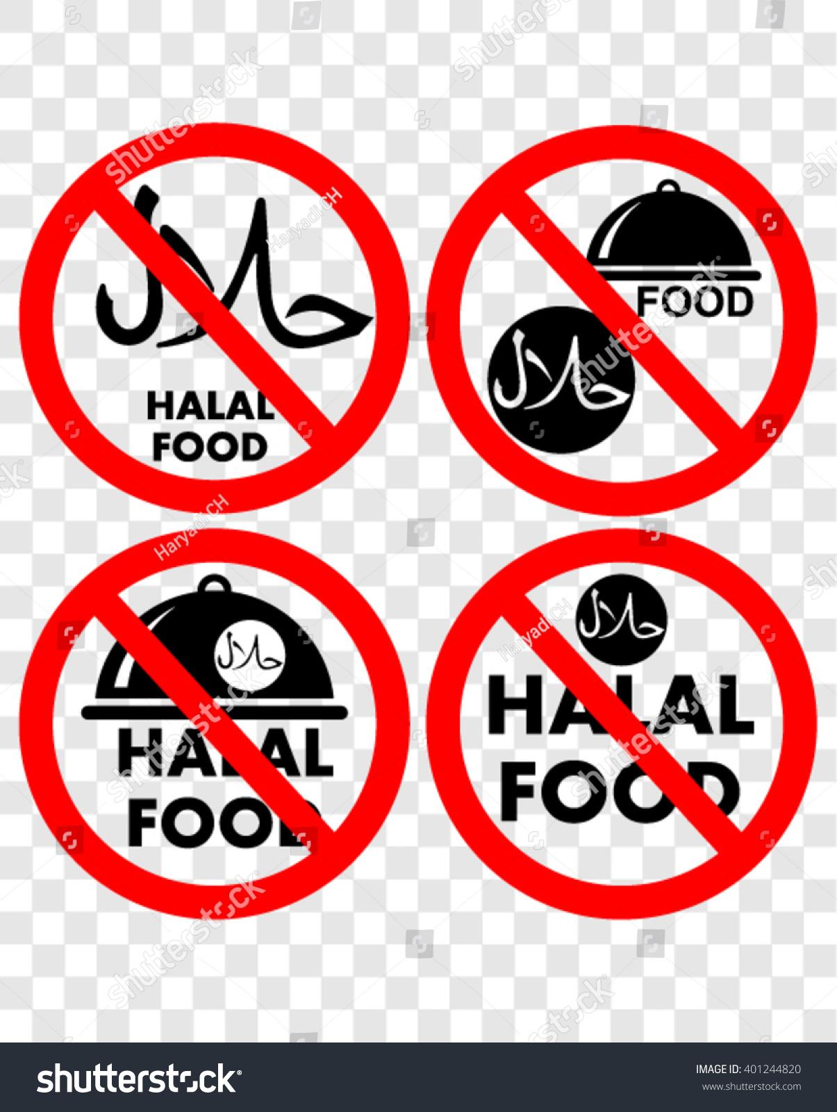 Royalty free no halal food sign 401244820 stock photo avopix no halal food sign 401244820 buycottarizona