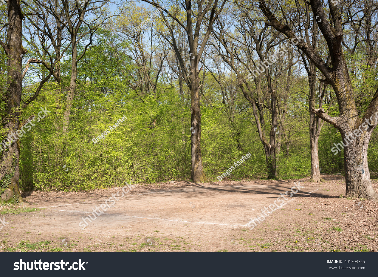 Abandoned Playground Forest Summer Landscape Blue Stock Photo Edit Now 401308765