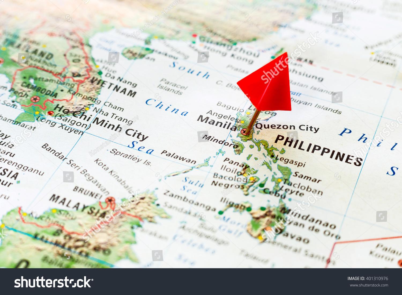 World Map Pin On Capital City Stock Photo 401310976 Shutterstock