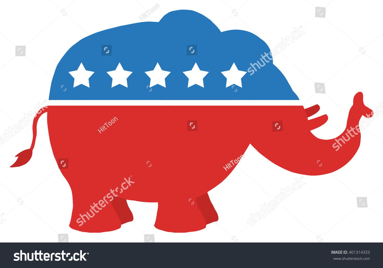 red white blue republican elephant vector illustration stock vector rh shutterstock com