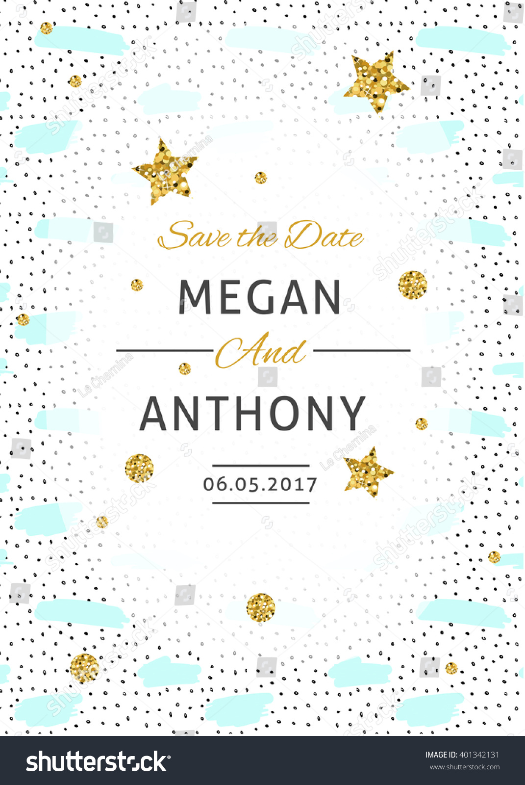 Wedding Invitation Card Save Date Card Stock Vector 401342131