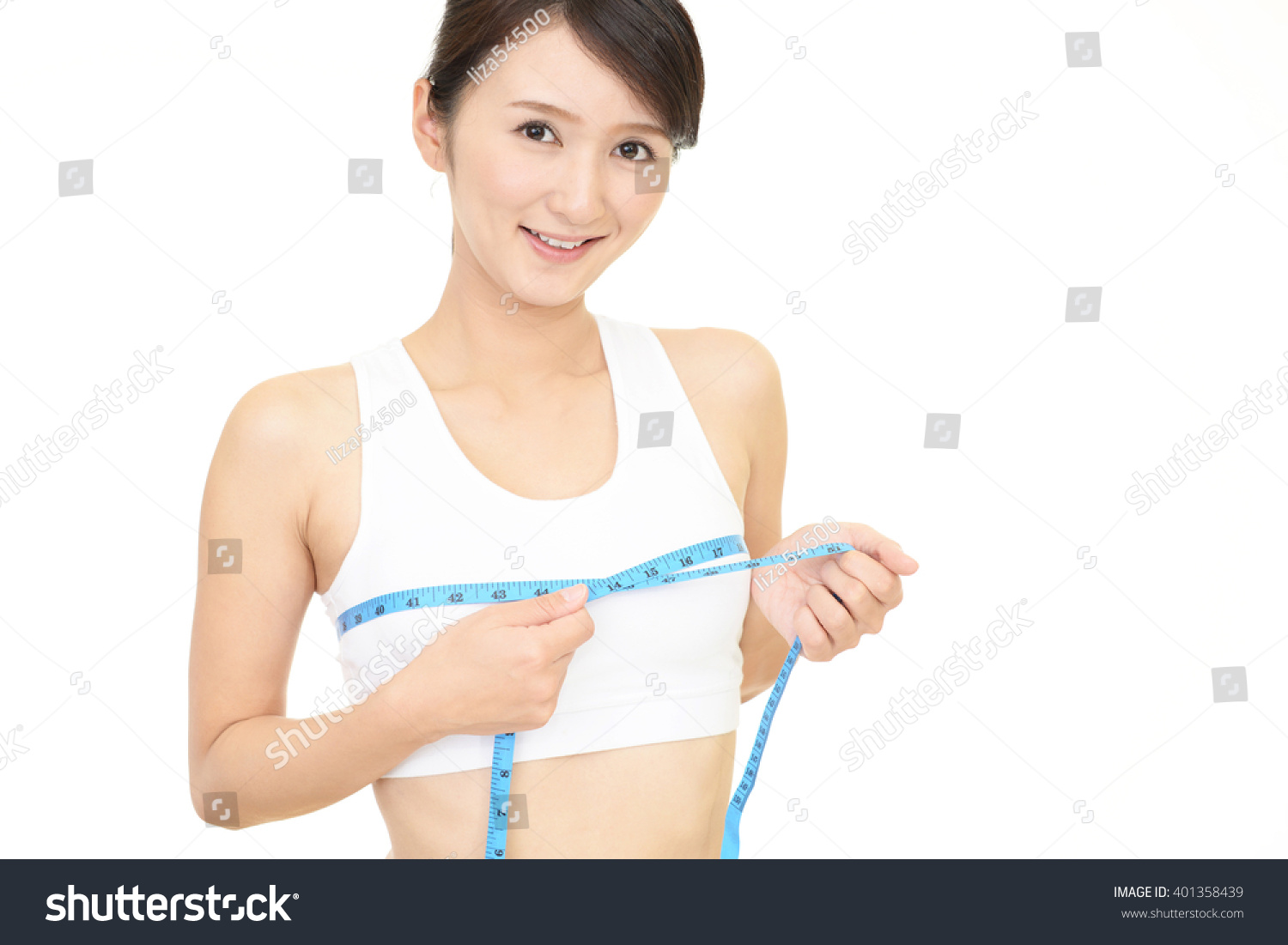 Young Woman Measuring Her Breast Stock Photo 401358439  Shutterstock-8835