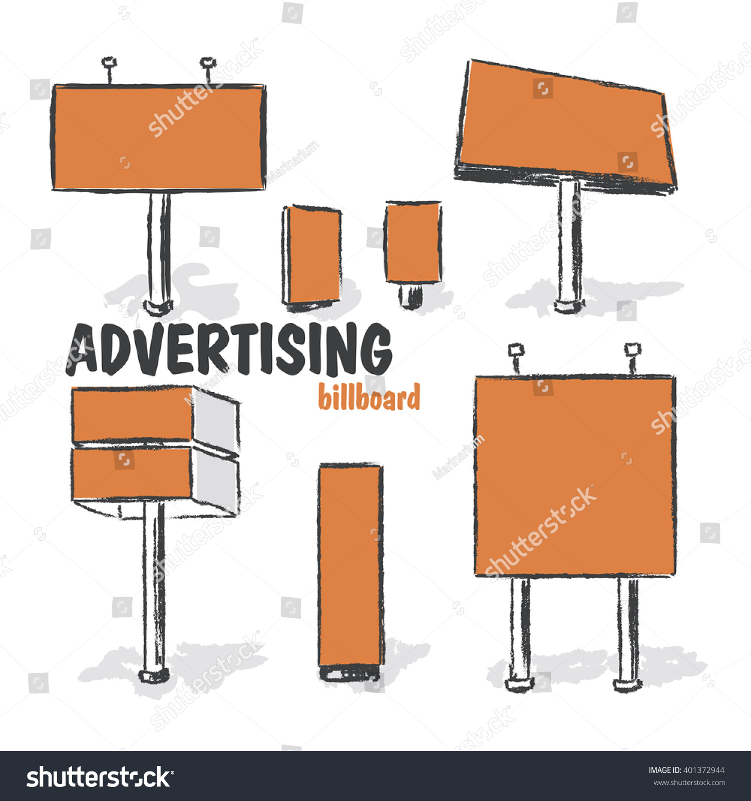 billboards outdoor advertisement templates stock vector royalty