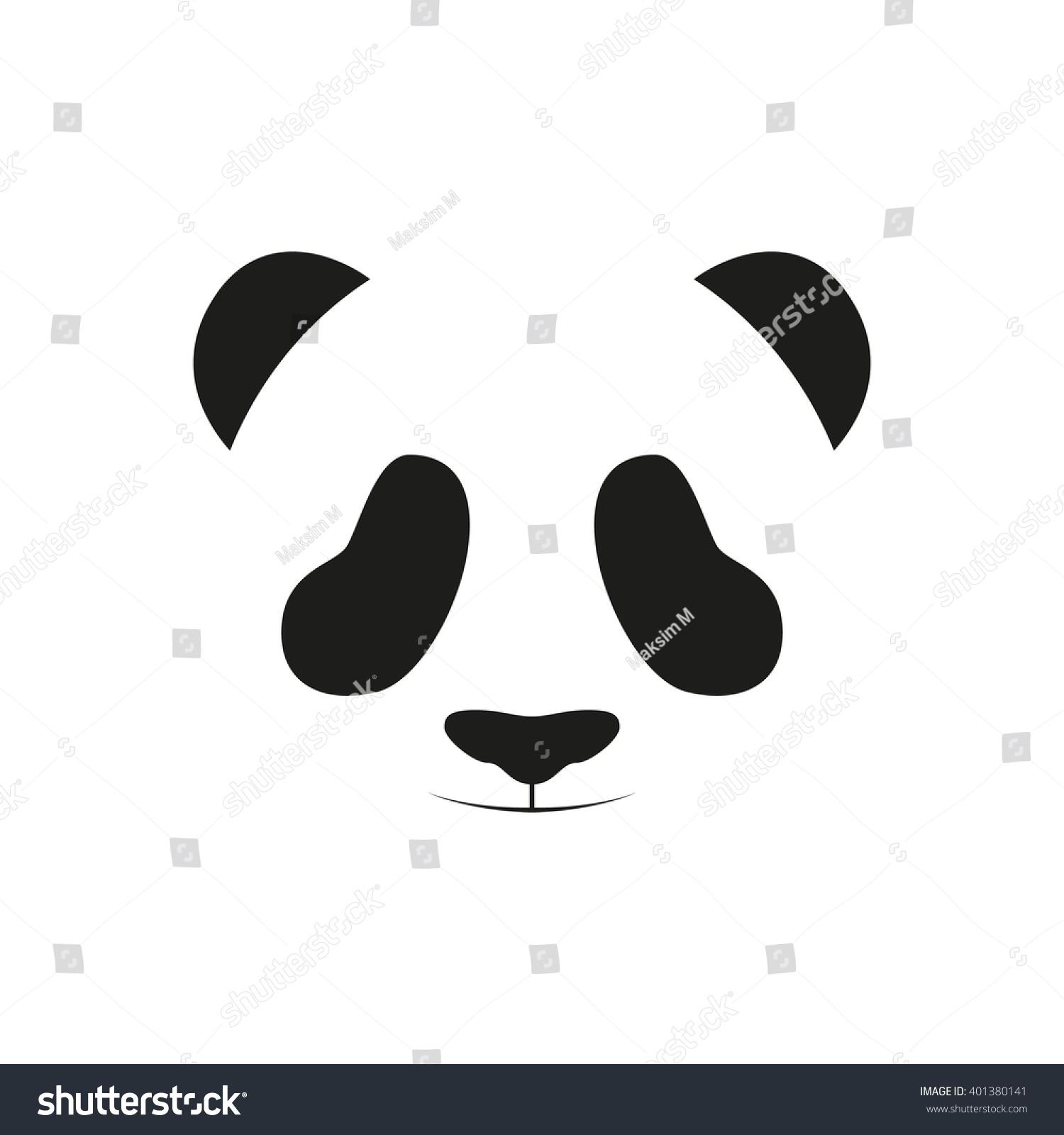 Baby panda face logo template. Baby panda face icon. Asian bear. Panda ...