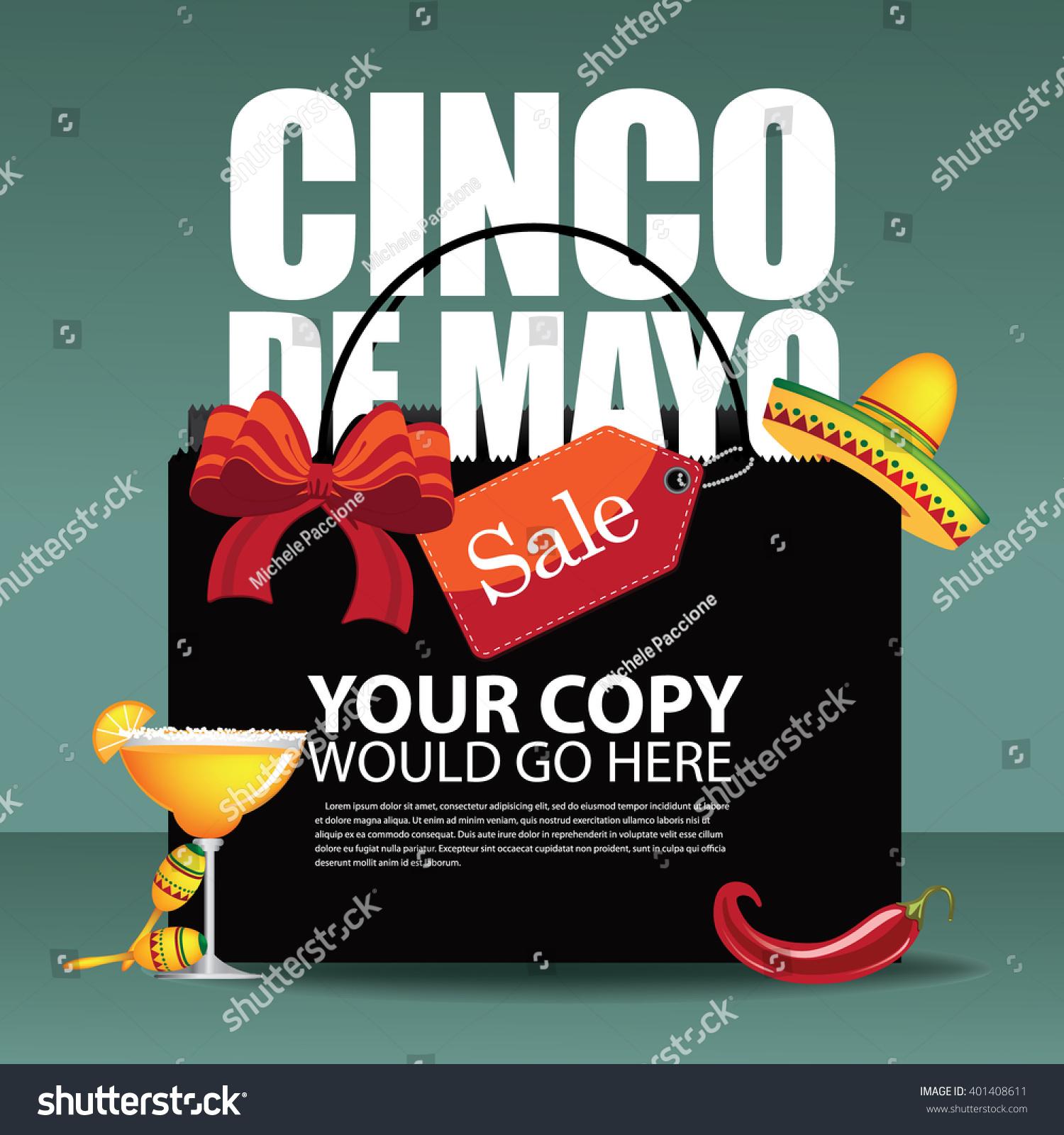 Cinco De Mayo Sale Shopping Bag Stock Illustration 401408611 ...
